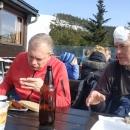 Oběd na Slaměnce - slunce pálí jako blázen