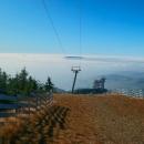 Už jsme nahoře, 1232 m nad mořem! Je tady úžasně.