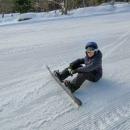 Další den opravdu na Českých Žlebech lyžujeme. Pohodový kopec za rozumné ceny s příjemným personálem. Lyžuji ovšem jenom já s dětmi, Luďka přepadla nějaká rýmička a tak zůstal doma.