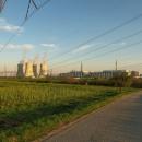 Výhled na oba bloky jaderné elektrárny