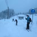 Napojujeme se na zasněženou cyklostezku Bečva a frčíme po ní opět až do Podťatého (cca 5 km).