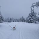 Hraniční patníky letos moc velká vrstva sněhu nezasypala