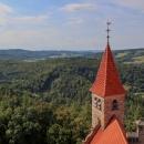 Výhled na kopečky Zábřežské vrchoviny
