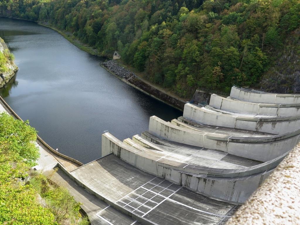 Vodní tobogány slapské přehrady, jak to nazvala Šárka