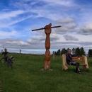 V bufetu na letohradské cyklostezce jsme objevili Pomník neznámého lyžaře nad Mistrovicemi