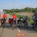 Startovní foto na cyklostezce směr Sázava