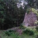 Hrad Aueršperk - zbytky věže