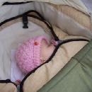 Šárka spí (měla něco přes 2 měsíce)