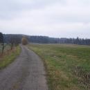 Pláně nad Adamem, překvapilo mě, že tu je asfaltka, v zimě to vypadalo asi takto