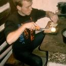 Večer Martin pomáhá při vaření (u kamen je totiž nejlíp)
