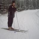 Vzácný snímek - snowboardista Martin na běžkách :-)