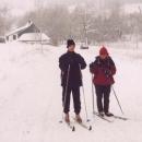 Ještě jeden snímek snowboardisty na běžkách :-)