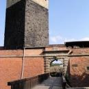 Vstupní brána do chebského hradu s typickou černou věží