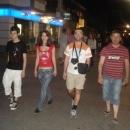Noční procházka v Podgorici s našimi hostiteli