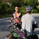 Setkání s jedním z mála cyklistů v Srbsku u Úžice