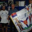 Se starostou Arilje na radnici (na sobě máme od něj další tričko)