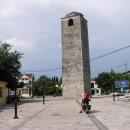 Tato věž je skoro vše z historického centra Podgorice