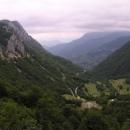 V sedle v horách