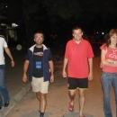 Procházka noční Bajinou Baštou s našimi hostiteli Dušanem, Vladimírem a Vesnou