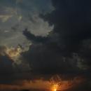 Západ slunce nad maďarskou dálnicí