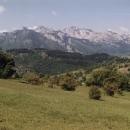 Pohoří Vojnik, které jsme včera přejeli