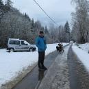 Nejhorší bylo dostat se na vlak, jinde už po sněhu nebyly ani památky.