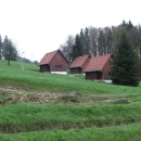 Teplota klesla na 1°C, ale v kempu v chatičce bylo příjemně vytopeno.