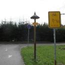 Konec rožnovské větve cyklostezky Bečva. Teď musíme přes kopec na vsetínskou větev.
