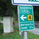 Zde začíná úžasná, více než 100 kilometrů dlouhá Traisentalradweg.