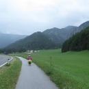 Traisentalradweg - sjezd v dešti