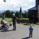 Markéta s dětmi na Pustevnách
