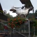 Před restaurací Aeroplán v Rožnově