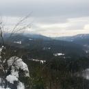 Výhledy z hřebene na Lysou horu, bohužel v mracích