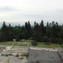 Výhled z rozhledny Tetřev směrem na Slovensko (Malá Fatra a tak)