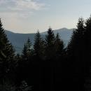 Výhled opět na Lysou horu z verandy chaty
