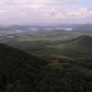 Výhled na Doksy a Máchovo jezero, nejslavnější rybník Čech