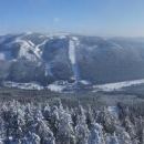 Výhled na sjezdovky v Dolní Moravě