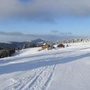 Dorazili jsme na Schronisko pod Sněžníkem, v dáli Czárna Gora