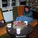 Háňa s Janou po večeři :-)