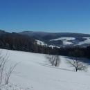 Výhled na Těchonín a Suchý vrch od Studeného