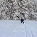 Hanka na běžkách nad Vlčkovicemi