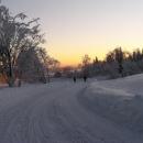 Sjezd po silnici do Petroviček