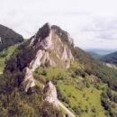 Vršatecké skalní bradlo (pohled z bašty hradu)