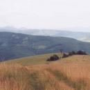 Rozhled z Mechnáče (771 m.n.m.) - přešli jsme hory doly...