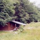 Náš poslední nocleh - na verandě lovecké chaty