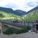 Most na Taře, tentokrát autem