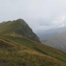 Stoupáme poslední metry na 2142 metrů vysoký Maglič.