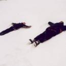 Markéta s Háňou mají radost ze sněhové nadílky :-)