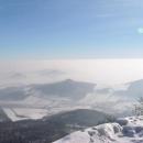 Pohled do České kotliny z Milešovky