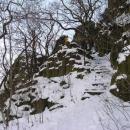 Schody do hradu Ostrý